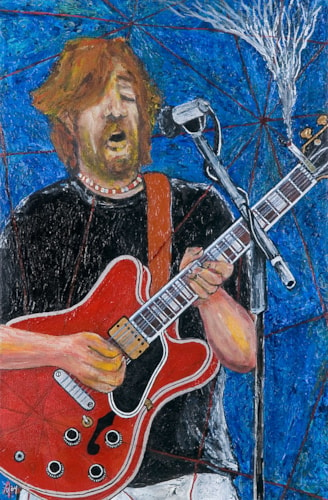 2004 Alex Mortimer Slowhand. An Original Portrait of Eric Clapton