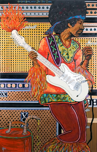 2005 Alex Mortimer Move Over Rover And Let Jimi Take Over. An Original Portrait