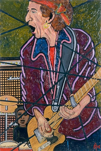 2005 Alex Mortimer Satisfaction. An Original Portrait of Keith Richards