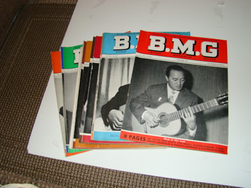 1961 BMG English Guitar Magazines/early 60,s/complete