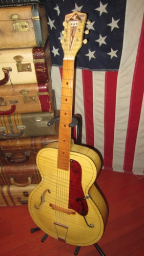 1968 Kay N4 Archtop Guitar White Gt Guitars Archtop