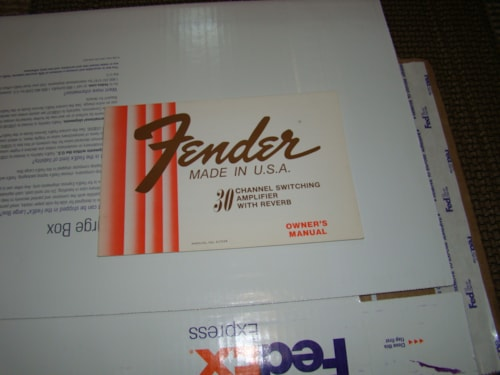 1980 Fender® 30 Channel Switching Amp Manual