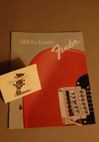 1984 Fender Dealer catalog poster