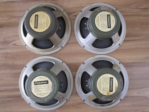 "~1969 VINTAGE CELESTION G12H30 75HZ T1217 12"" GUITAR SPEAKERS LEAD CONES"
