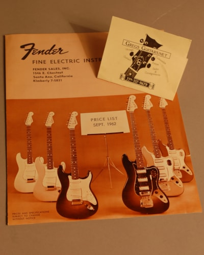 1962 Fender Price guide Catalog