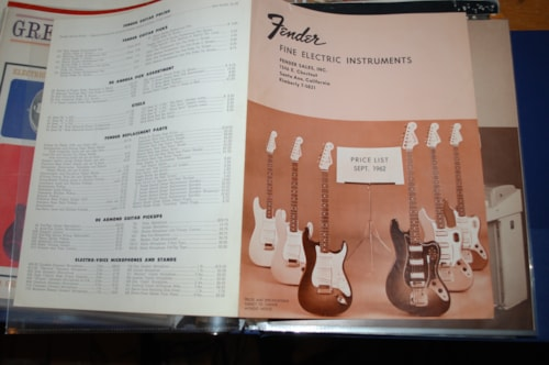 1962 Fender® Price guide Catalog