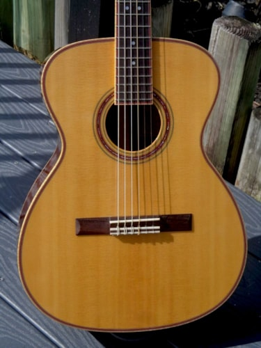 1999 Charles Fox Cfox Concert Sierra Nylon OM Electric Classical