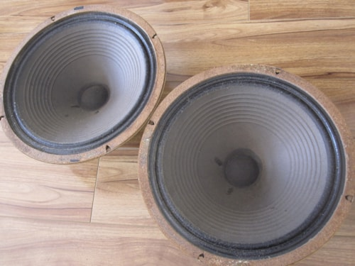 "~1969 VINTAGE CELESTION G12M25 75HZ T1221 12"" GUITAR SPEAKERS LEAD CONES"