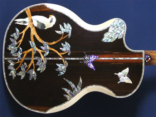 Madura Guitar Madonna-Birds & Butterfly (Order production)
