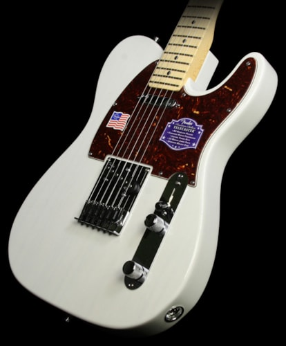 Fender® American Deluxe Ash Telecaster® Electric Guitar White Blonde