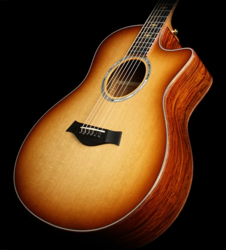 Taylor Used Taylor Custom Shop BTO Grand Symphony Cocobolo Acoustic/Electric Guitar Shaded Edgeburst
