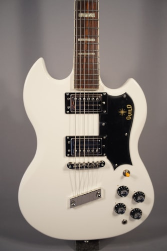 2015 Guild® Guitars NEW! Guild® S-100 Polara™ White Electric Guitar With Case.