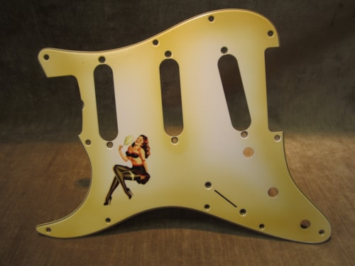 "2015 Fender® Custom Shop ""Girly Guard"" Lefty Stratocaster® 50's Pin Up Relic® Aged"
