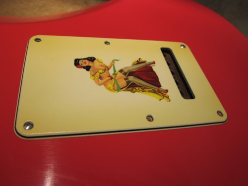 """2015 Fender® Custom Shop """"Girly Guard"""" Stratocaster® 50's Pin Up Relic® Aged Backplate"""