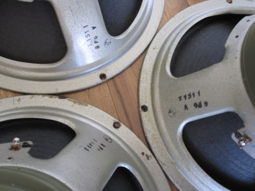 "1972 VINTAGE CELESTION G12M25 55HZ T1511 12"" GUITAR SPEAKERS BASS CONES"