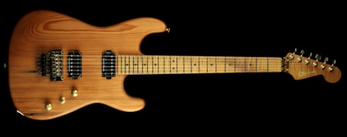 Charvel Custom Shop Exclusive Natural Series Carbonized Recycled Redwood San Dimas HH Electric Guitar