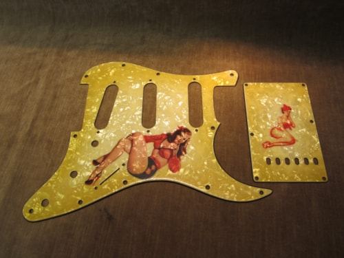 "2015 Fender® Custom Shop ""Girly Guard"" Stratocaster® 50's Pin Up Relic® Aged Guard & BackPlate"
