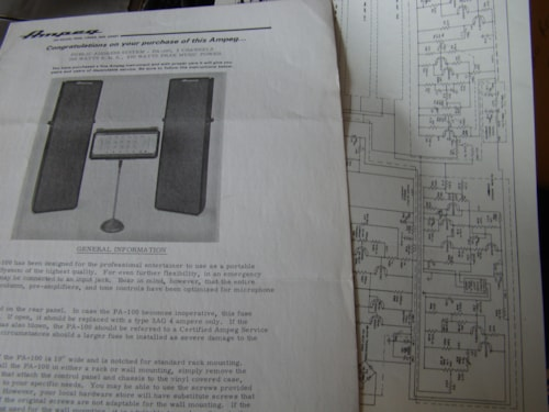 1971 Ampeg PA Owners Manual & Schematic