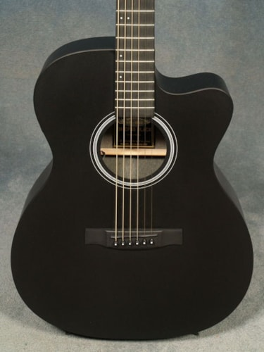 2017 Martin OMCPA5 BLACK PERFORMING ARTIST GUITAR with FISHMAN F1 ANALOG PICKUP