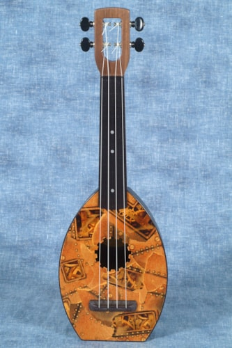 2017 MAGIC FLUKE COMPANY FLEA UKULELE, SOPRANO, FRANKENSTEAM DESIGN WITH GIGBAG