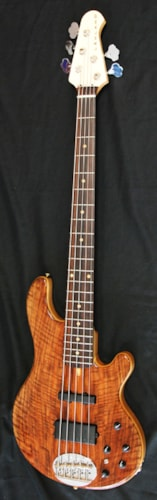Lakland USA Custom Delux 55-94 Flamed Walnut Bass