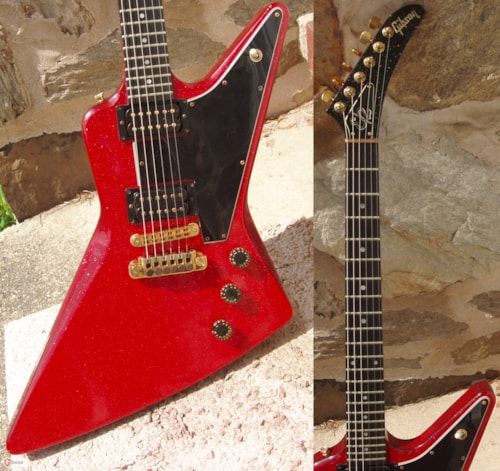1981 Gibson Explorer E-2 Red Sparkle