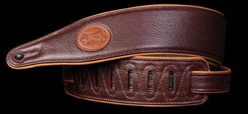 Levy's MSS17 Garment Leather Guitar Strap Burgundy