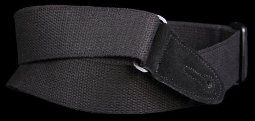 Levy's MC8 Cotton Leather Guitar Strap Black