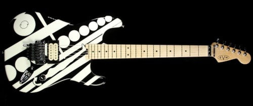 EVH Used 2014 EVH Stripe Series Electric Guitar Black with White Crop Circles