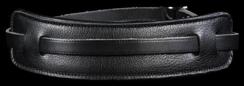 Levy's MG25 Soft Garment Leather Guitar Strap Black