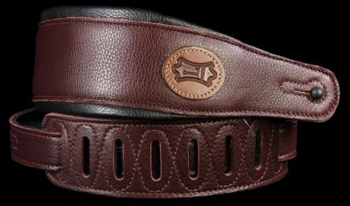 Levy's MSS2 Signature Series Soft Garment Leather Guitar Strap Burgundy