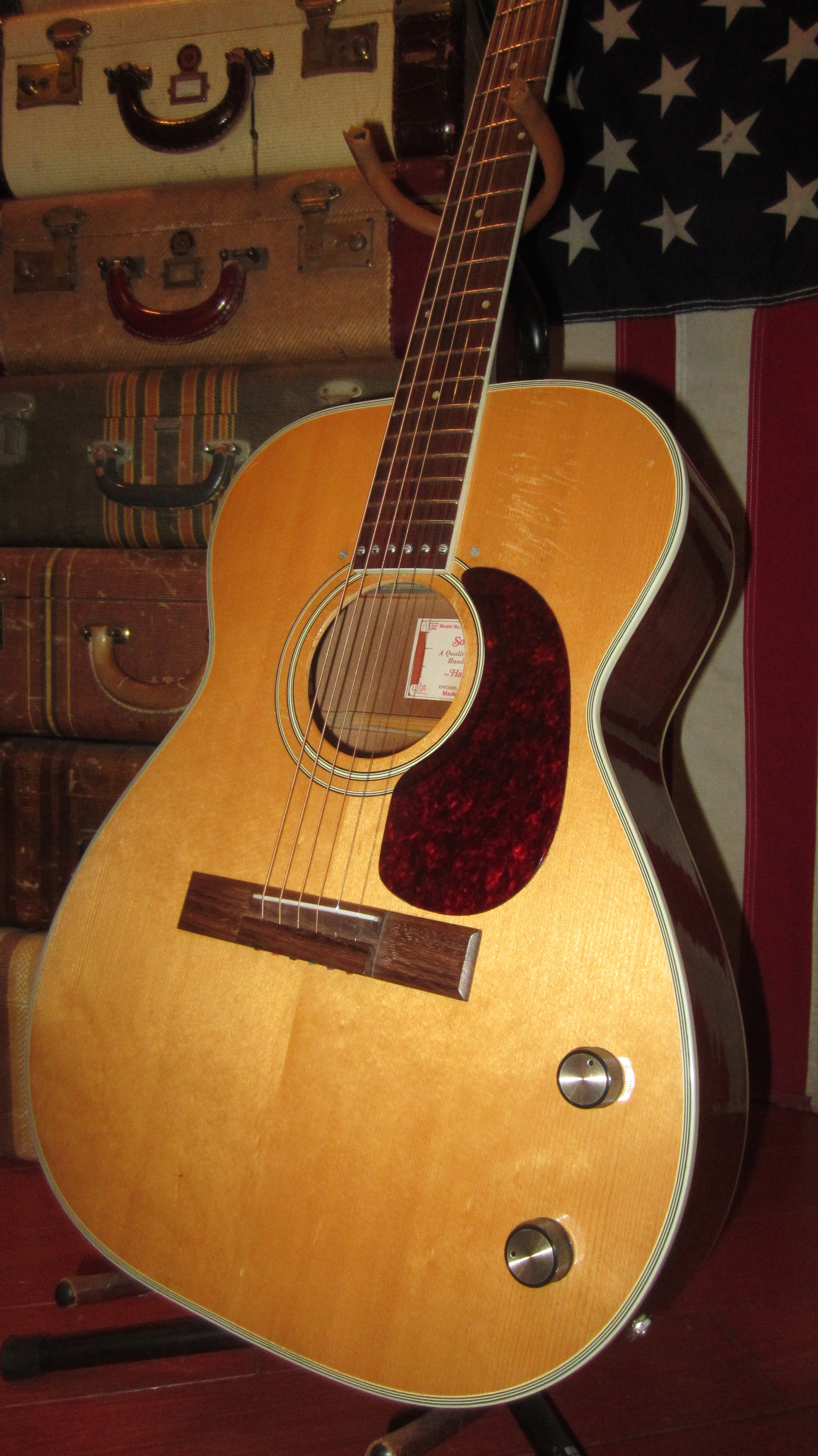 1972 Harmony H 655 Sovereign Acoustic Electric Natural