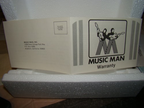 Music Man Warranty Amp or Guitar