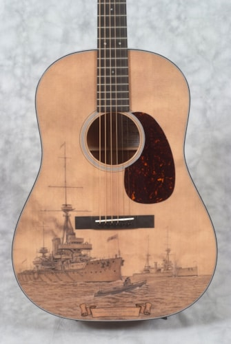 2016 Martin LE-HMSD-2015 LIMITED EDITION BATTLESHIP DREADNOUGHT GUITAR & CASE