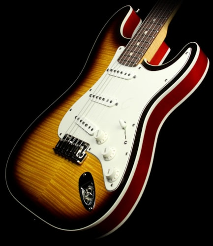 Fender Custom Shop Used 2014 Fender Custom Shop Double Bound Slab Body Stratocaster Electric Guitar Two-Tone Sunburst