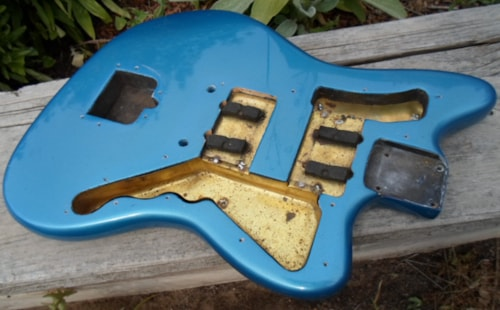 1960 fender jazzmaster body lake placid blue refinish guitars electric solid body copper. Black Bedroom Furniture Sets. Home Design Ideas