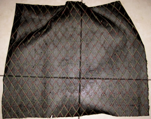Vox Grill Cloth Black Diamond 24 inches X 18.5 inches 1960's