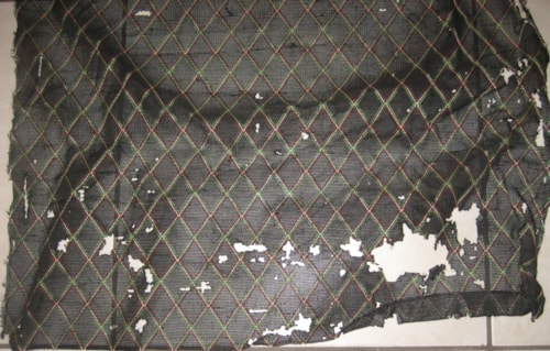 Vox Grill Cloth Black Diamond 24 inches X 38 inches 1960's Disre