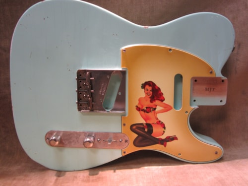 "2015 Fender® Custom Shop ""Girly Guard"" Telecaster® Aged 50's Pin Up Girl"