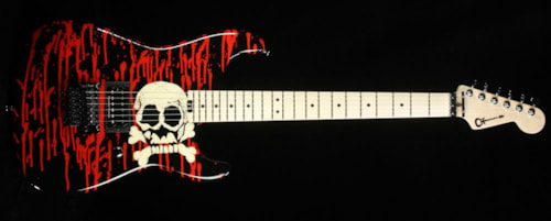 Charvel Pro Mod San Dimas Warren DeMartini Signature Blood & Skulls Electric Guitar