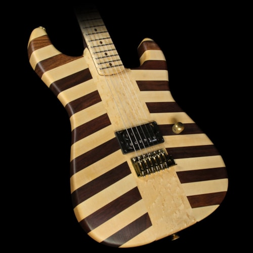 Charvel Used 2010 Charvel Custom Shop NAMM Showpiece Butcher Block San Dimas Electric Guitar Natural Oil