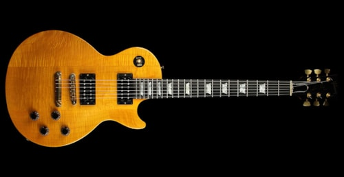 gibson 1992 gibson usa les paul studio lite electric guitar transparent amber transparent amber. Black Bedroom Furniture Sets. Home Design Ideas
