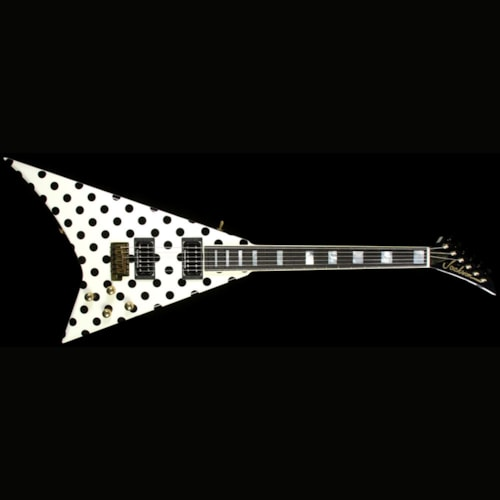 Jackson Custom Shop Exclusive Randy Rhoads RR 1.5 Electric Guitar White w/ Black Polka Dots