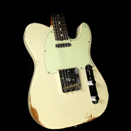 Fender Custom Shop 60s Roasted Ash Telecaster Relic Electric Guitar Vintage Blonde