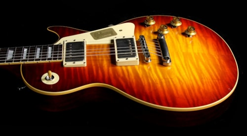 Gibson Custom Shop Used 2015 Gibson Custom Shop Aged True Historic 1958 Les Paul Reissue Electric Guitar Aged Vintage Cherry Sunburst