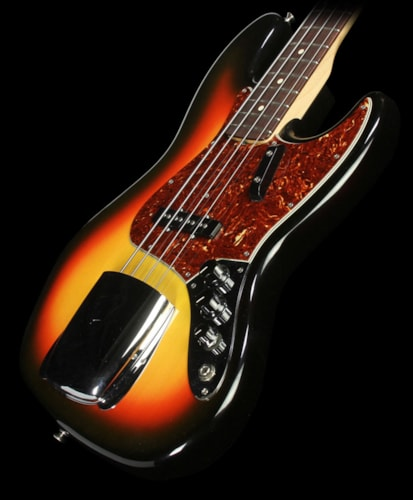 Fender Custom Shop Used 2014 Fender Custom Shop Time Machine '64 Jazz Bass Electric Bass Guitar Three-Tone Sunburst