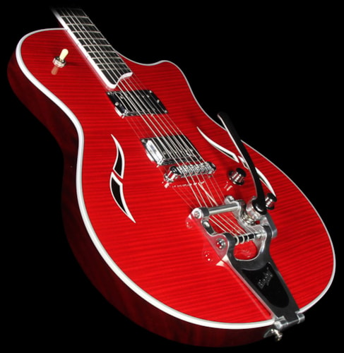 Taylor T3/B Flame Maple Electric Guitar with Bigsby Borrego Red