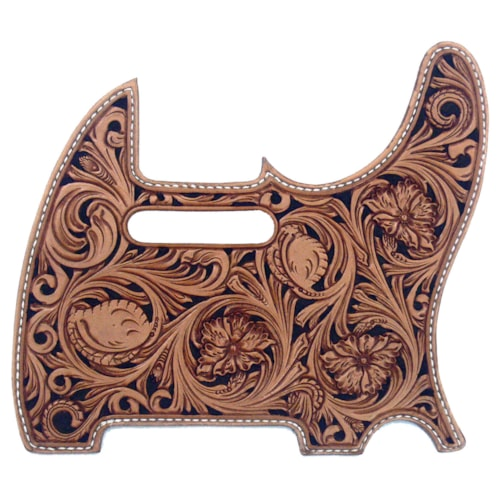 Madura Guitar Carved Leather Pickguard for Tele®