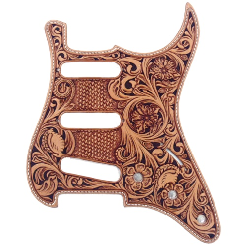 Madura Guitar Carved Leather Pickguard for Strat®
