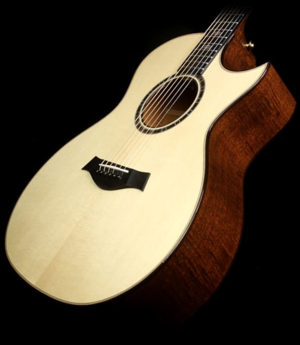 Taylor 514ce 2015 Limited Edition Flame Mahogany Grand Auditorium Acoustic-Electric Guitar Natural